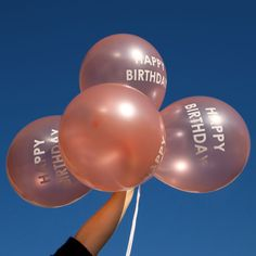 Happy Birthday Rose Gold Balloons | Balloons and Party Decorations | Party Shop UK – The Original Party Bag Company