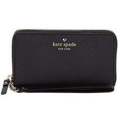 Kate Spade New York Jordie Leather Wristlet ($148) ❤ liked on Polyvore