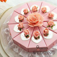 Rose personnalisées. gâteau de bonbons boîte de mariage fournitures dga12
