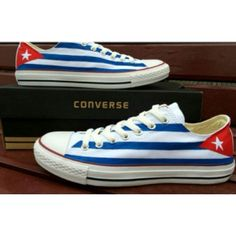 How awesome: Custom Cuban Converse! We want these!