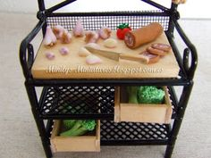 Minilys Miniatures food Fimo. ajos, lomo. Artisan Miniatures. Dollhouse