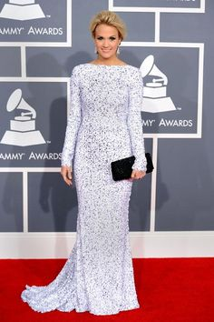 Carrie Underwood in Gomez-Gracia at the 2012 Grammys