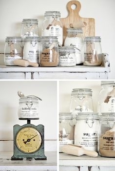 DIY waterslide decals... brilliant idea.  craft decal kitchen storage jars