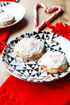 Candy Cane Cookies by I Love Food, Good Food, Fun Food, Cookie Recipes, Dessert Recipes, Desserts, Candy Cane Cookies, Favorite Cookie Recipe, Baking With Kids
