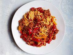 Spaghetti with Lamb-and-Sweet Pepper Ragù