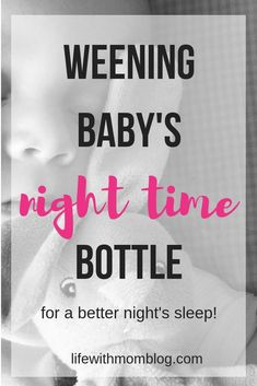 Weening your baby's night bottle doesn't have to be difficult. Here's an easy and effective method for weening your baby's night feeding. It only took me one month to ween my baby off of ALL her bottles! The post includes a free printable chart. Weaning Toddler, Baby Weaning, Get Baby, Baby Sleep, Baby Boy, Weaning From Bottle, How To Night Wean, Sleeping Through The Night, Bottle Feeding