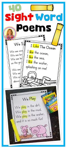 40 Sight Word Poems for Shared Reading-Perfect for New Readers