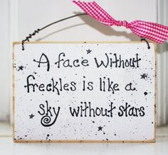 Funny Wood Signs with Sayings | Freckle Face Wood Sign Room Bathroom Baby Shower Gift So Cute 3 x 5 ...