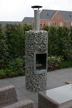 gabion cheminée