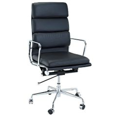 LexMod Discovery High Back Leather Conference Office Chair in Black Genuine Leather by LexMod. $315.81. Adjustable Seat Height. Leather upholstery. Polished aluminum frame. Tilt-swivel mechanism. This iconic 1969 design is as popular today as when it debuted. Striking and comfortable, the unique flexible suspension provides long term comfort. This handsome and versatile chair reflects the dynamic nature of the body to permit seamless movement from one activity t...