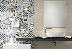 Ceramica Fioranese   CEMENTINE 20   #bathroomtiling #bathroomceramics #ceramicaitaly #rivestimentibagno #piastrellebagno