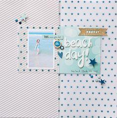 Katie Ehmann for Gossamer Blue #scrapbooking #layout #papercrafting
