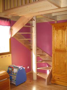 escalier hélicoïdal accès mezzanine