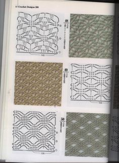 """Lots of very interesting crochet stitches with charts. I (Kelly) went to this site, clicked """"Translate"""" then save it to PDF with clean print."""