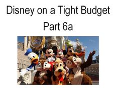 Check out this series on Disney World on a Tight Budget. It goes over dates that are CHEAPER to get rooms, things to do, where to go and more. All by Maggie  - a frugal living expert, Disney Finatic and mom of 4 kids that vacations regularly at Walt Disney World on a Very TIGHT Budget! Read the whole series - it's an eye opener tha will help you take that dream vacation with your family..... ;-)