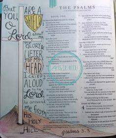 Artsy Faith | Psalms 3:3 Bible Art Journaling | Faith Art | Scripture Art
