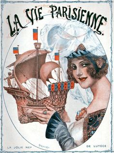 Cover for the March 1919 issue of La Vie Parisienne by Chéri Hérouard