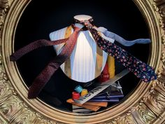 """FORTNUM & MASON,London, UK, """"I hope that wherever my ties go they're happy that's all that matters"""", pinned by Ton van der Veer"""