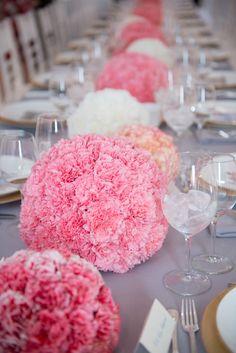 Carnation Centerpiece Real Housewives Photography: Tatiana Valerie, Artvesta Studio - www.artvestastudio.com
