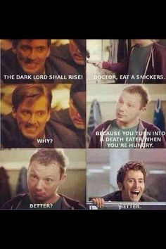 Image result for Barty Crouch Jr vs Dr. Who
