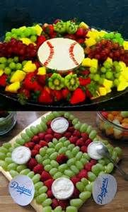 Fruit tray ideas for baby shower summer 25 ideas - ADAN'S PARTY - Softball Birthday Parties, Softball Party, Sports Party, Softball Treats, Sports Snacks, Sports Birthday, Graduation Parties, 13th Birthday, Fruit Decoration For Party
