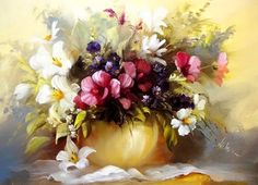 Arte Pinturas Óleo: Arreglos Florales, Pinturas de Széchenyi Szidónia