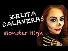 skelita calaveras monster high makeup tutorial for halloween learn how to look like skelita calaveras from monster high following this easy makeu - Skelita Calaveras Halloween Costume