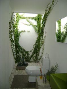 Green bathroom!