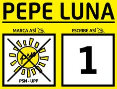 Pepe Luna nro 1 de Solidaridad Nacional