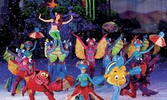 Ariel and her undersea friend in disney on ice dream big ~ 8 tips for disney Disney On Ice, Ariel Disney, Under The Sea Costumes, Live Comedy, Samba Costume, Win Tickets, World Of Fantasy, Dear Evan Hansen, Face Characters