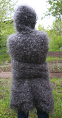 Sweater SUPER LONG SLEEVE Longhair 100% Goat Down Mohair J. Rodas Knit to order in Kleidung & Accessoires, Herrenmode, Pullover & Strick | eBay!