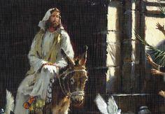 jesus riding on a donkey into jerusalem | Entry into Jerusalem on a Donkey