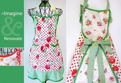 Nice website with tutorials for making aprons, tea towels, pot holders and more