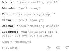 Bokuaka, Kuroken, Oiiwa