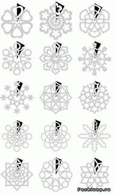 paper snow flakes pattern by chloe_jarvis