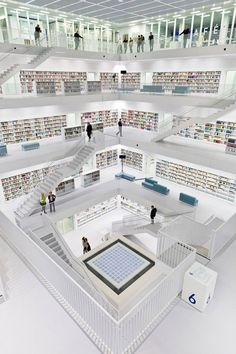 "Library in Stuttgart, Germany. Libraries and museums are my new ""to go"" places when I start to travel again"