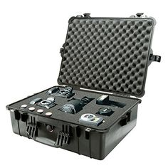 Pelican 1600 Case with Foam Camera Gun Equipment MultiPurpose  Black * Learn more by visiting the image link.