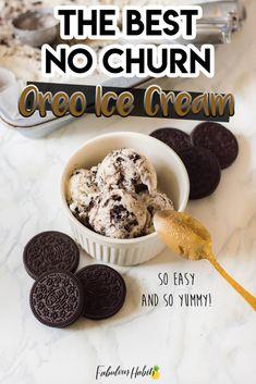No Churn Oreo Ice Cream
