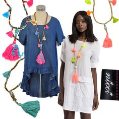 Exciting and chic new stock now at #Nicci stores & online nicci.co.za #NicciSS17 Ss 17, Tassel Necklace, Tassels, Colours, Chic, Fashion, Shabby Chic, Moda, Elegant