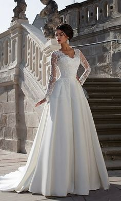 Bohemian Style Wedding Dresses, Princess Wedding Dresses, Long Wedding Dresses, Wedding Dress Styles, Dress Wedding, Lace Wedding, Empire Line Wedding Dress, Wedding Dress Sleeves, Cheap Wedding Dresses Online
