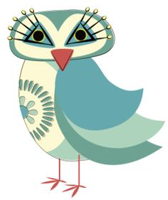 'Lucienne Day Retro Owl' by Runderella