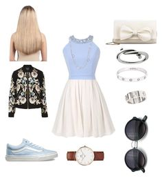 Skater stylish by noah0421 on Polyvore featuring polyvore, moda, style, Needle & Thread, Vans, RED Valentino, Daniel Wellington, Cartier, David Yurman, Extension Professional, fashion and clothing