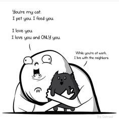 🐈 .. by @theoatmeal . . . . . . . . . . . #comics #webcomics #funny #fun #smile #lol #instagood #haha #😂 #tumblr #textpost #funnytextpost… Funny Webcomics, Funny Text Posts, More Cute, Pet Care, Cute Pictures, I Love You, Haha, Kitty, Pets
