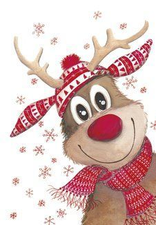 Reindeer picture for gift tag