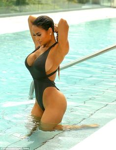 Curves ahead:The 28-year-old beauty has a son named Sire with rapper 50 Cent...