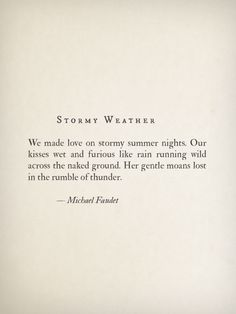 Stormy Weather by Michael Faudet