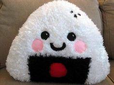 ONIGIRI Pillow Plush Sushi - Large Kawaii Ume Umeboshi rice - 2 styles | Nancym4 - Toys on ArtFire