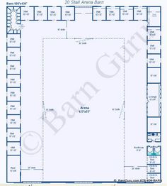 20 stall arena horse barn design plan awesome idea to combine indoor arena - Horse Barn Design Ideas