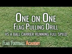 Youth Flag Football Defense Drill - One on One Flag Pulling - YouTube