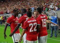 Manchester United secured a 2-0 pre-season friendly victory over Manchester City
